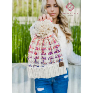 CC Ombre Double Slipstitch Pom Beanie - Hats & Hair Accessories