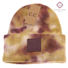 Load image into Gallery viewer, CC Tie Dye Beanie - Antique Moss / Wild Ginger - Hats & Hair Accessories