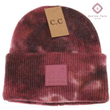 Load image into Gallery viewer, CC Tie Dye Beanie - Brown / Wild Ginger - Hats & Hair Accessories