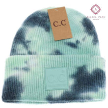 Load image into Gallery viewer, CC Tie Dye Beanie - Deep Teal / Seagreen - Hats & Hair Accessories