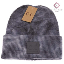 Load image into Gallery viewer, CC Tie Dye Beanie - Dk. Grey / Lt Grey - Hats & Hair Accessories