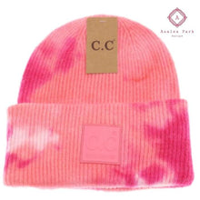 Load image into Gallery viewer, CC Tie Dye Beanie - Fuchsia / Pink - Hats & Hair Accessories