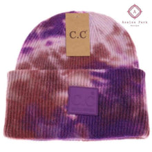 Load image into Gallery viewer, CC Tie Dye Beanie - Iris / Wild Ginger - Hats & Hair Accessories