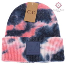Load image into Gallery viewer, CC Tie Dye Beanie - Navy / Pink - Hats & Hair Accessories
