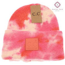 Load image into Gallery viewer, CC Tie Dye Beanie - Orange / Peach - Hats & Hair Accessories