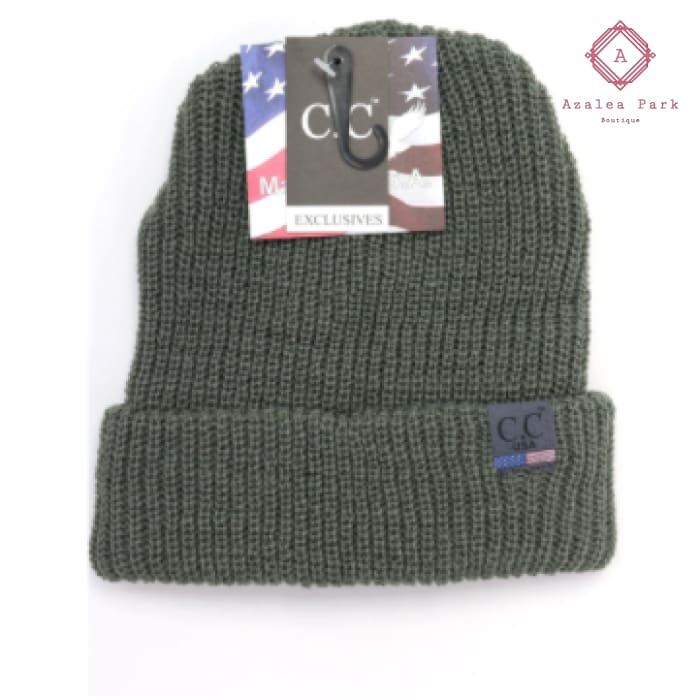 CC Unisex Knit Cuffed Beanie - Foilage - Hats & Hair Accessories