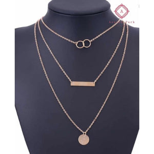 Coin Bar Necklace - Gold - Jewelry