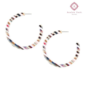 Confetti Bomb Hoops - Multi - Jewelry