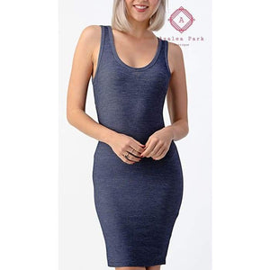 Denim For Days Knit Dress - Young Contemporary Dresses