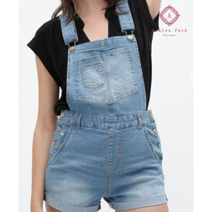 Denim Short Overalls - Bottoms
