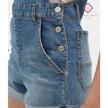 Load image into Gallery viewer, Denim Short Overalls - Bottoms