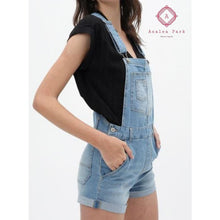 Load image into Gallery viewer, Denim Short Overalls - S / Blue - Bottoms