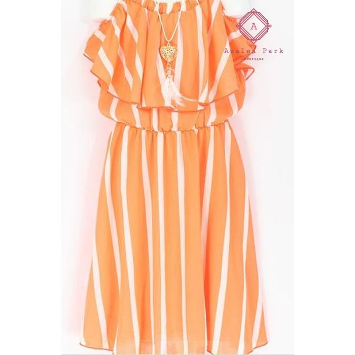 Dreamsicle Dress - 4 / Neon Orange - Girls Dresses