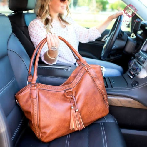 Envy Handbag Purse - Cognac - Bags & Purses