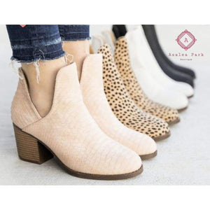 Snakeskin Ankle Bootie - Shoes & Belts