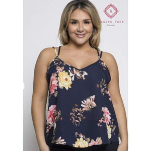 Floral Cami - 1X - Plus Tops