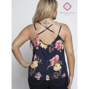 Floral Cami - Plus Tops