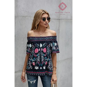Floral Shift Top - Top