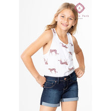 Load image into Gallery viewer, Girls Rolled Cuff Denim Shorts - 7 - Girls Bottoms
