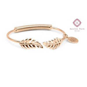 Goddess Collection - Laurel Leaf Bracelet - Rose Gold - Kinsley Armelle