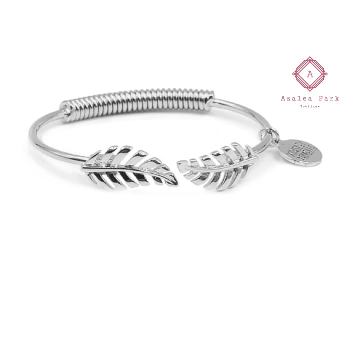 Goddess Collection - Laurel Leaf Bracelet - Silver - Kinsley Armelle