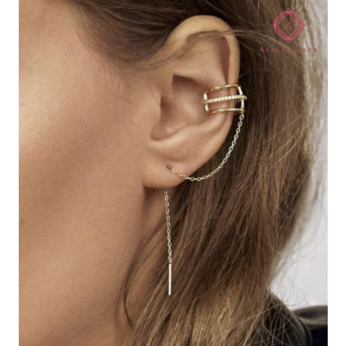 Gold Chain Earring - Jewelry
