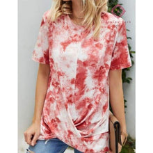 Load image into Gallery viewer, PRE-ORDER Hang Around Tie Dye Tee - S / Red - Top