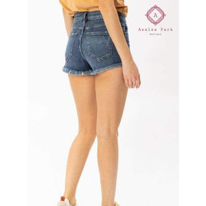 Hazel High Rise Step Hem Shorts - Bottoms