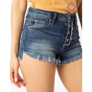 Hazel High Rise Step Hem Shorts - XS - Bottoms
