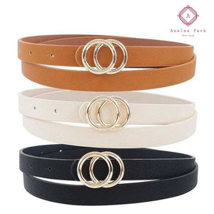 Infinity Buckle Belt - Black - Shoes & Belts