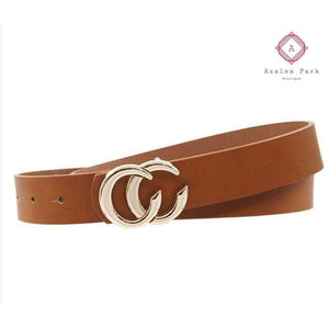 CC Metal Buckle Belt - Shoes & Belts