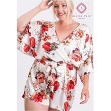 Load image into Gallery viewer, Ivy's Floral Romper - Small - Rompers