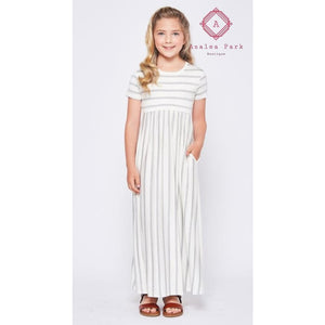 Jorja's Striped Maxi - Girls Dresses