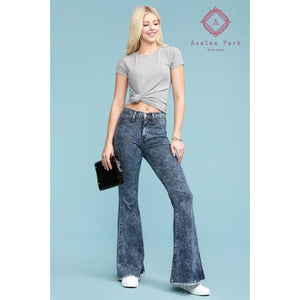 Judy Blue Acid Wash Super Flare - Bottoms