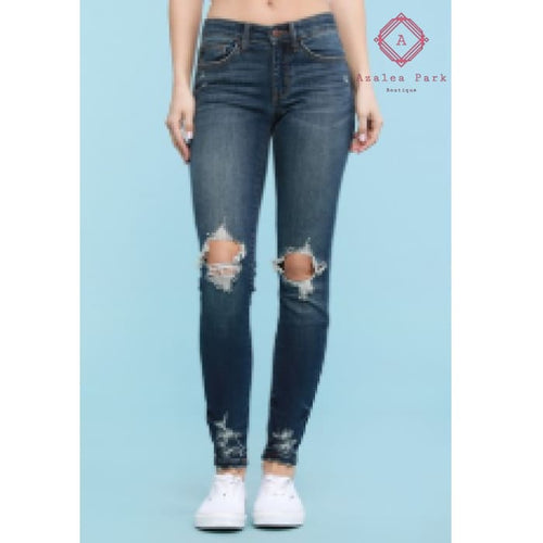 Judy Blue Distressed Skinny - Plus Bottoms