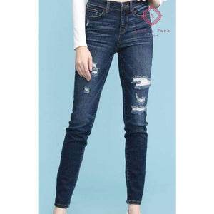 Judy Blue Distressed Skinny - 16W - New Arrival