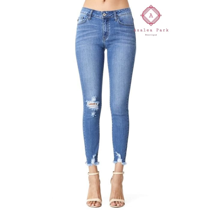 KanCan Mid Rise Ankle Skinny - 0/23 - Bottoms