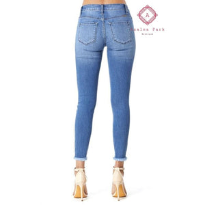 KanCan Mid Rise Ankle Skinny - Bottoms