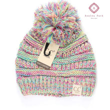 Load image into Gallery viewer, Kids Four-Tone Pom CC Beanie - Multi - Hats & Hair Accessories