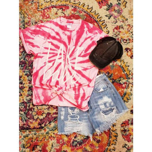 Lake Babe TieDye Tee - Small - Top