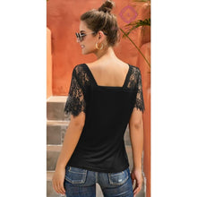 Load image into Gallery viewer, Lanie's Lace V-Neck Top - Top