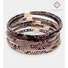 Load image into Gallery viewer, Layered Snake Bangle - Brown - Jewelry