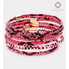 Load image into Gallery viewer, Layered Snake Bangle - Pink - Jewelry