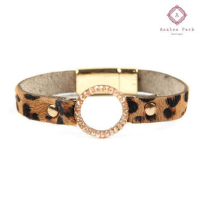 Layla Leopard Bracelet - Brown - Jewelry