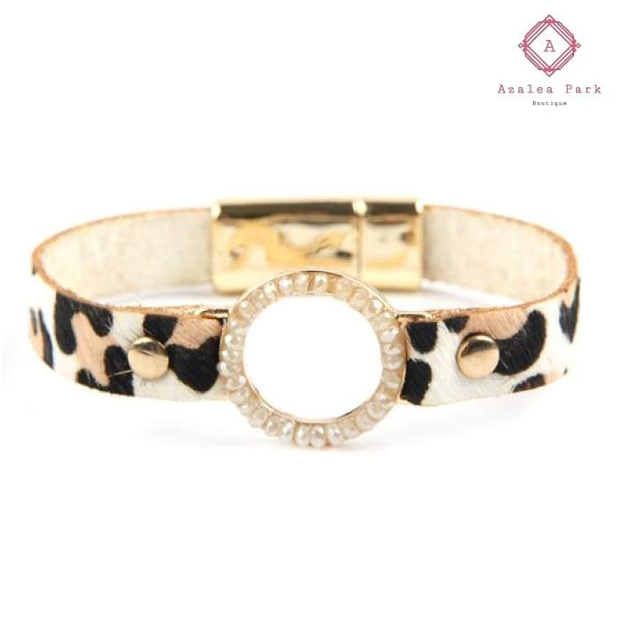 Layla Leopard Bracelet - Natural - Jewelry