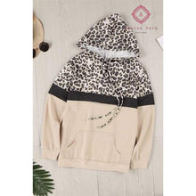 Load image into Gallery viewer, Pre- Order Leopard + Color Block Hoodie - Top