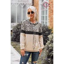 Load image into Gallery viewer, Pre- Order Leopard + Color Block Hoodie - S - Top