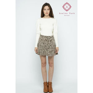 Leopard Print Skort - Bottoms
