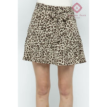 Load image into Gallery viewer, Leopard Print Skort - S - Bottoms