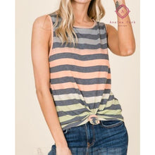 Load image into Gallery viewer, MultiColor Striped Tank - Top